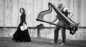 Blagues musicales, la harpe