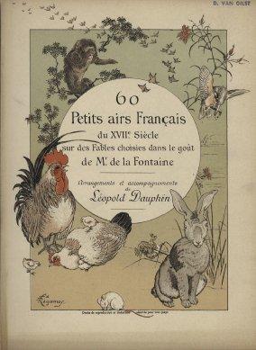 Airs sur des fables choisies dans le goût de Jean de la Fontaine