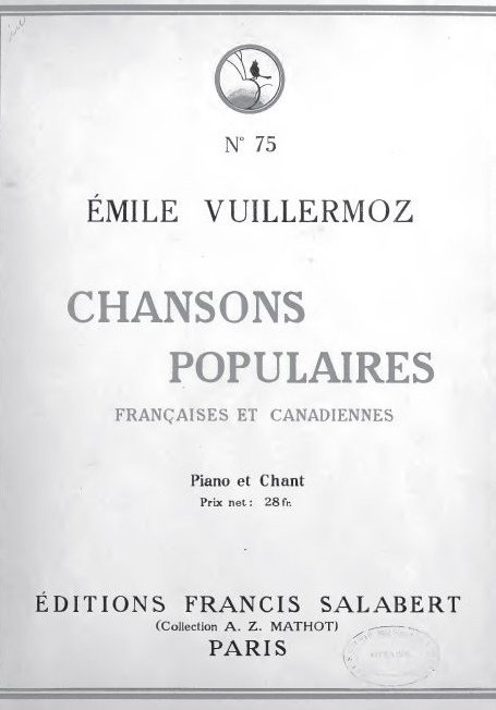 Chansons populaires canadiennes