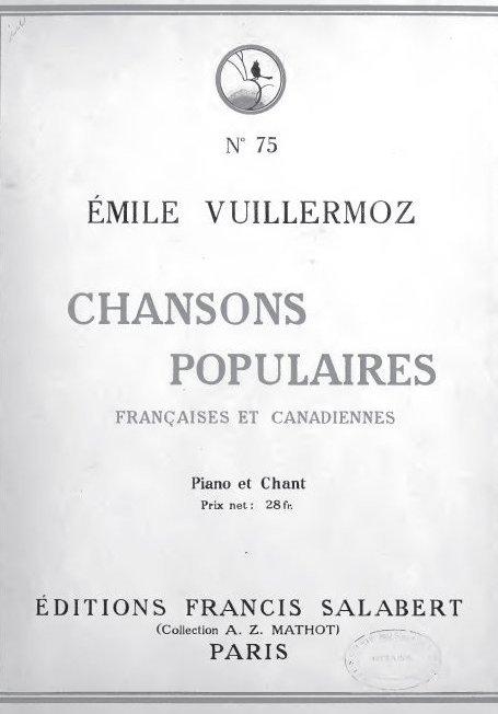 Chansons populaires françaises et canadiennes
