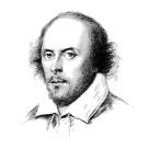 Chansons des pièces de Shakespeare. Dessin au crayon de Shakespeare