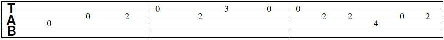 Exemple de tablature
