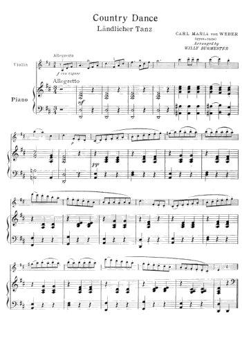 12 danses célèbres danses pour violon et piano Partition gratuite