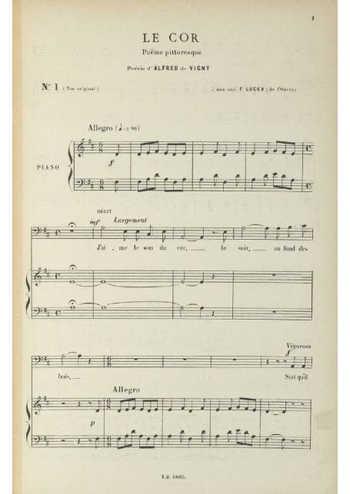 Le cor Partition gratuite