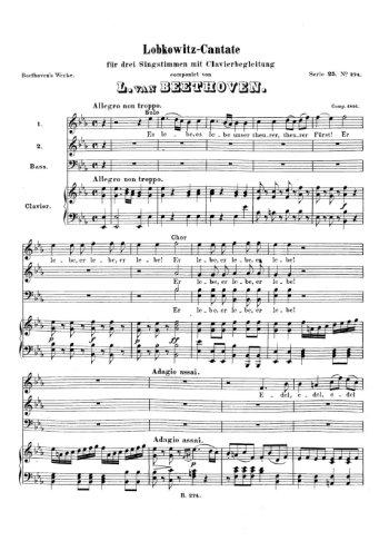 Cantate Lobkowitz Partition gratuite