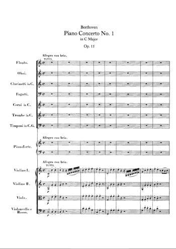Concerto pour piano N°1 Partition gratuite