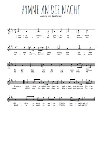 Hymne an die Nacht Partition gratuite