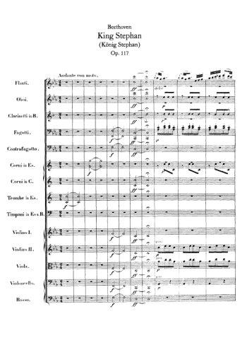 King Stephan pour orchestre Partition gratuite