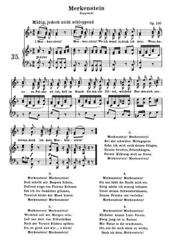Beethoven Merkenstein Partition gratuite