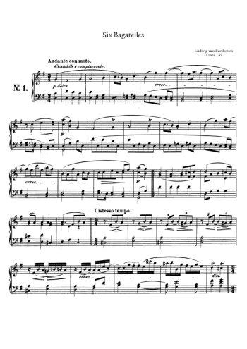 Six bagatelles op. 126 Partition gratuite