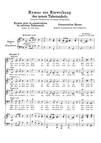 Hymne pour la consécration du nouveau tabernacle Partition gratuite