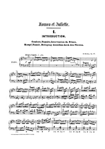 Roméo et Juliette, symphonie dramatique Partition gratuite