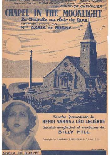 Chapel in the moonlight La chapelle au clair de lune Partition gratuite