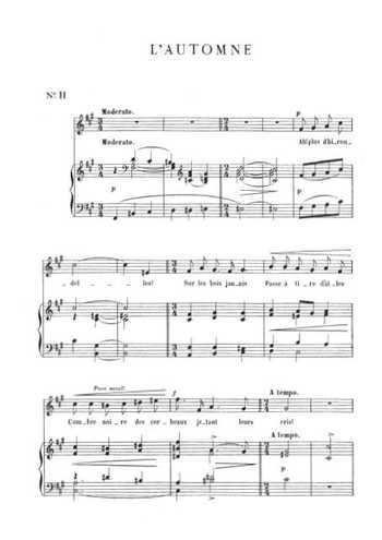 13 mélodies 11. L'automne Partition gratuite