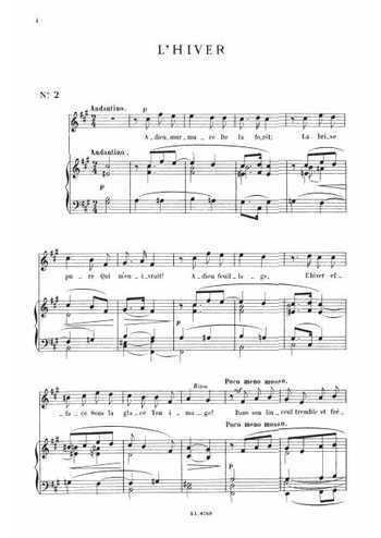 13 mélodies 2. L'hiver Partition gratuite