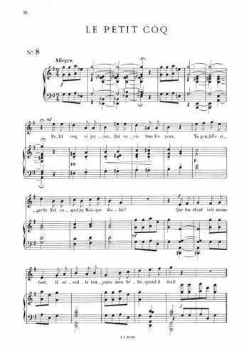 13 mélodies 8. Le petit coq Partition gratuite