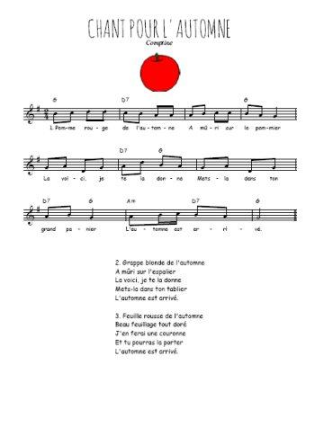 Chant pour l'automne Partition gratuite