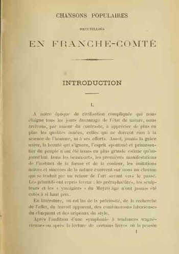 Chansons populaires de Franche-Comté Partition gratuite