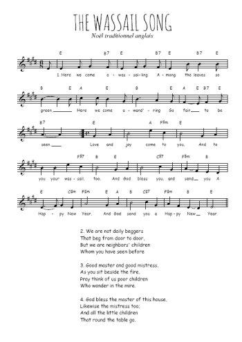 The Wassail song Partition gratuite