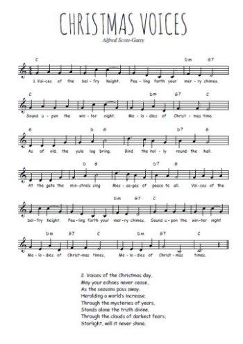 Christmas voices Partition gratuite