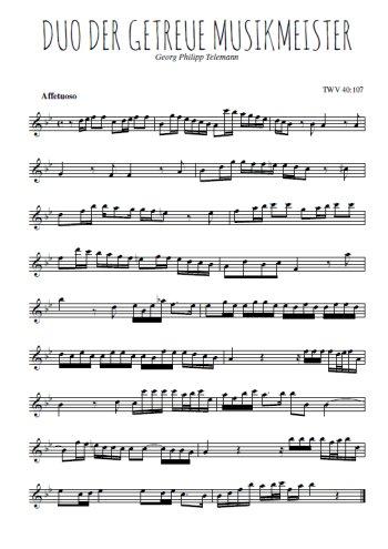 Der getreue Musikmeister Partition gratuite
