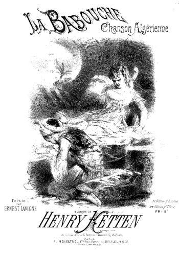 La babouche, chanson algérienne Partition gratuite