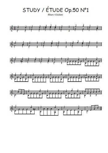 Op.50 Etude N°1 Partition gratuite