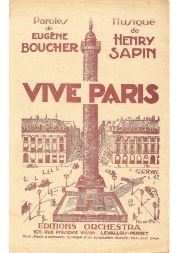 Vive Paris Partition gratuite