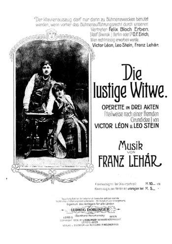 La veuve joyeuse Partition gratuite