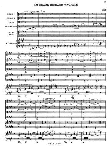 Am Grabe Richard Wagners Partition gratuite