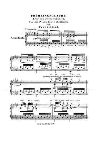 Lieder de Schubert Partition gratuite