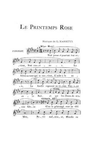 Le printemps rose Partition gratuite