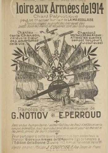 Gloire aux armées de 1914 Partition gratuite