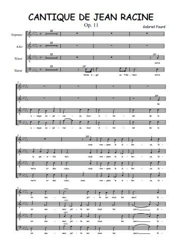 Cantique de Jean Racine Partition gratuite