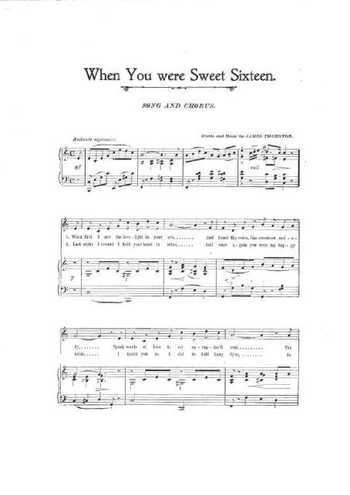 When you were sweet sixteen Partition gratuite