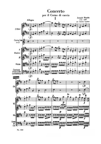 Concerto pour cor de chasse Partition gratuite