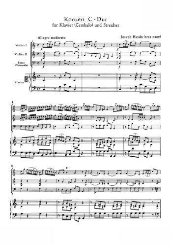 Concerto pour piano et orchestre en do Partition gratuite