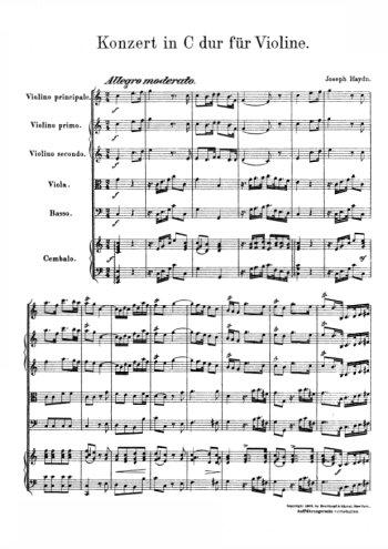 Concerto pour violon en do Partition gratuite