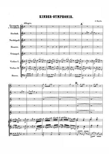 Kinder-Symphonie, symphonie pour enfants Partition gratuite