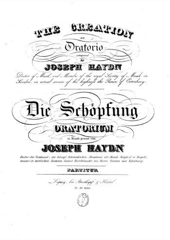 Oratorio La Création, Die Schöpfung Partition gratuite