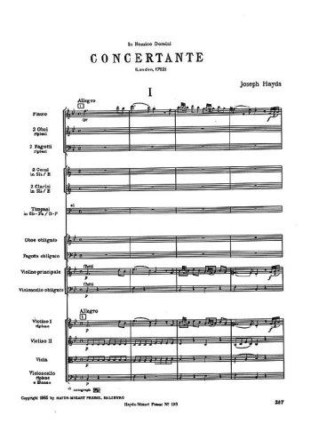 Symphonie concertante en Sib Partition gratuite