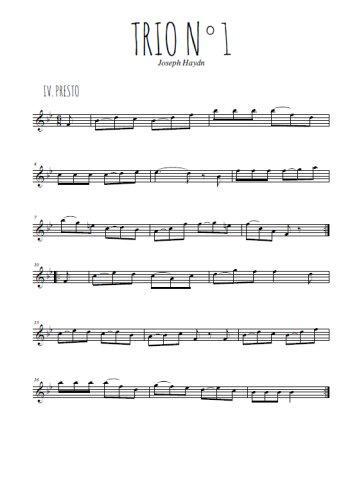 Trio N°1, 4. Presto Partition gratuite