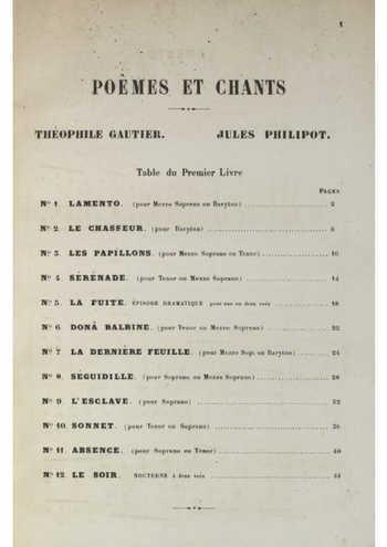 Poèmes et chants Partition gratuite