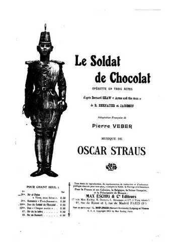 Le soldat en chocolat Partition gratuite