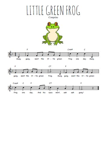 Little green frog Partition gratuite