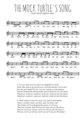 Mock turtle's song Partition gratuite