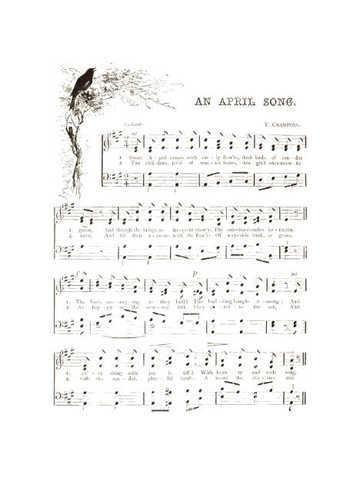 An april song Partition gratuite
