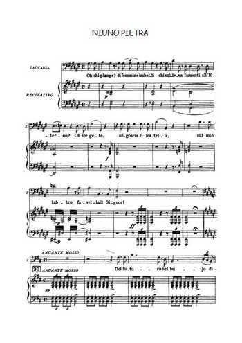 Nabucco - Niuno pietra Partition gratuite