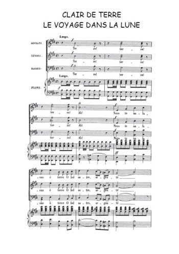 Clair de Terre, choeur final Partition gratuite