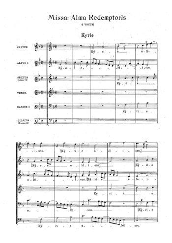 Missa Alma Redemptoris Partition gratuite